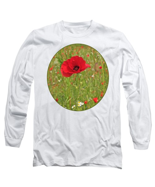 Poppy With Bud Long Sleeve T-Shirt