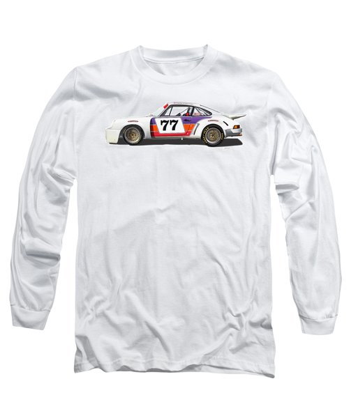 Porsche 1977 Rsr Illustration Long Sleeve T-Shirt