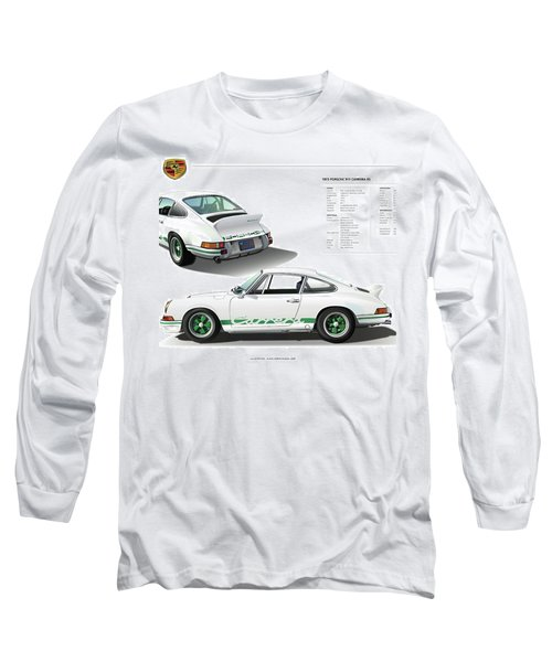 Porsche 911 Carrera Rs Illustration Long Sleeve T-Shirt
