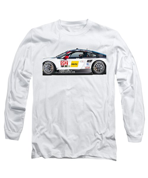 Porsche 911 Gtlm Illustration Long Sleeve T-Shirt