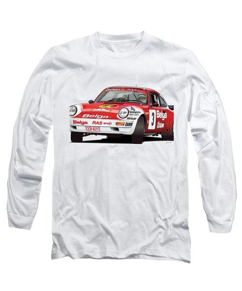 Porsche 911 Sc Rs Belga Team Long Sleeve T-Shirt