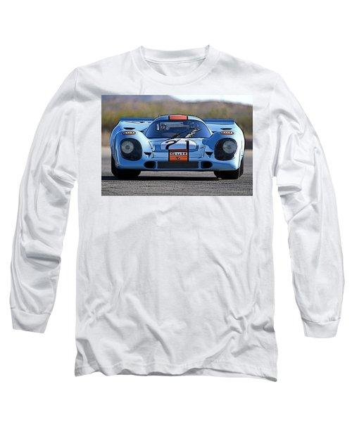 Porsche 917 Shorttail Long Sleeve T-Shirt by Thomas M Pikolin