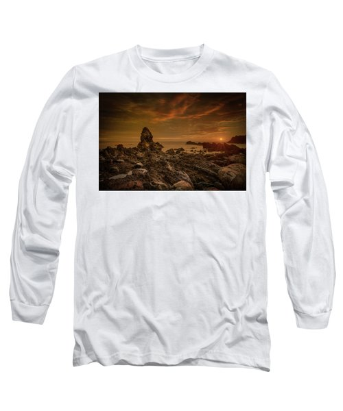 Porth Saint Beach At Sunset. Long Sleeve T-Shirt