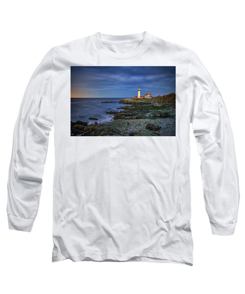 Long Sleeve T-Shirt featuring the photograph Portland Head Aglow by Rick Berk