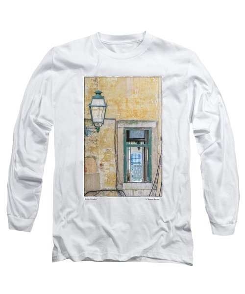 Porto Window Long Sleeve T-Shirt by R Thomas Berner
