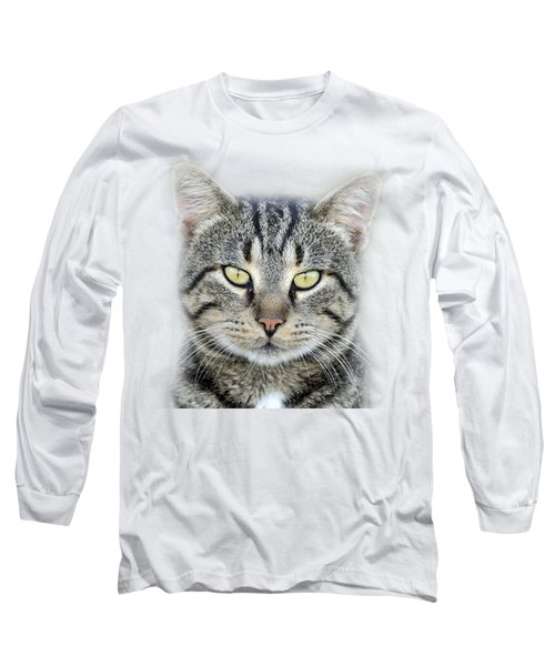Long Sleeve T-Shirt featuring the photograph Portrait Of A Cat by George Atsametakis
