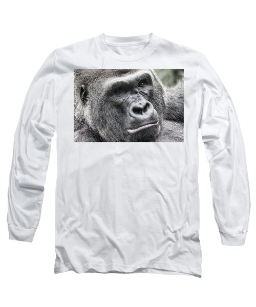 Portrait Of A Gorilla Long Sleeve T-Shirt