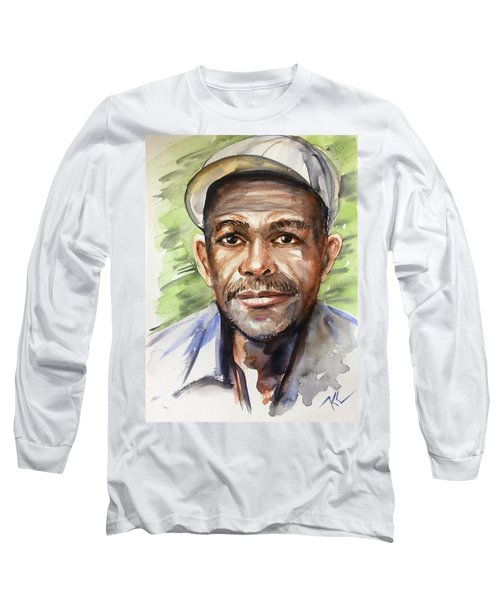Portrait Of A Man Long Sleeve T-Shirt