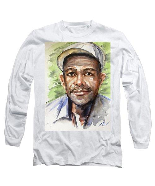 Portrait Of A Man Long Sleeve T-Shirt
