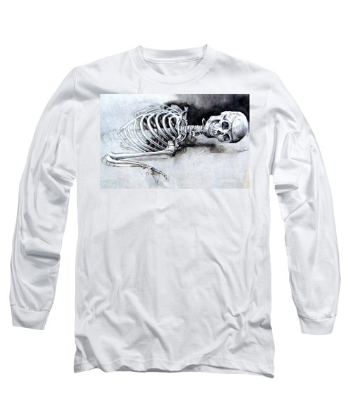 Portrait Of A Skeleton Long Sleeve T-Shirt