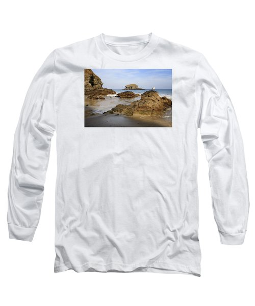 Portreath Long Sleeve T-Shirt by Shirley Mitchell