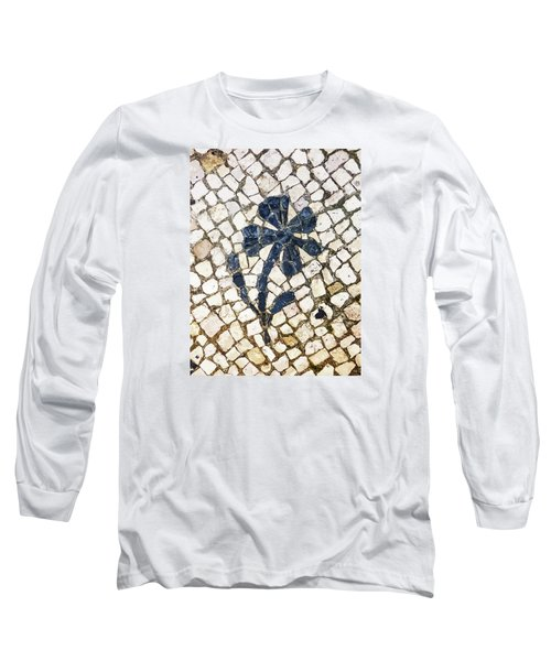 Portuguese Pavement With A Flower Detail Long Sleeve T-Shirt
