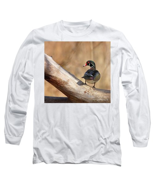 Posing Wood Duck Long Sleeve T-Shirt