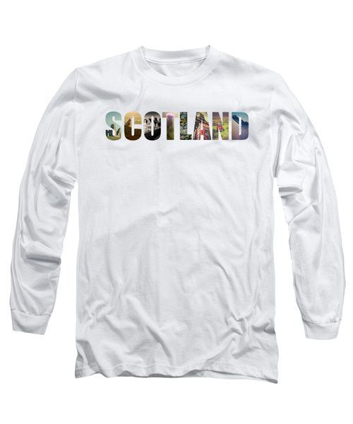 Postcard For Scotland Long Sleeve T-Shirt
