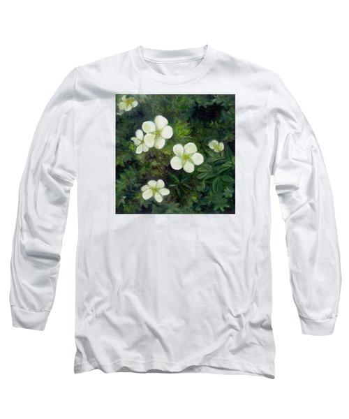 Potentilla Long Sleeve T-Shirt by FT McKinstry