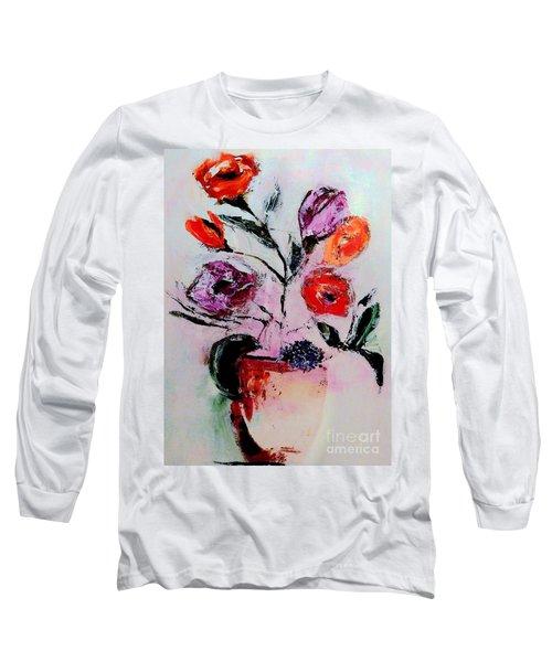 Pottery Plants Long Sleeve T-Shirt by Lisa Kaiser
