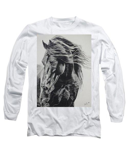 Power Of Horse Long Sleeve T-Shirt by Melita Safran