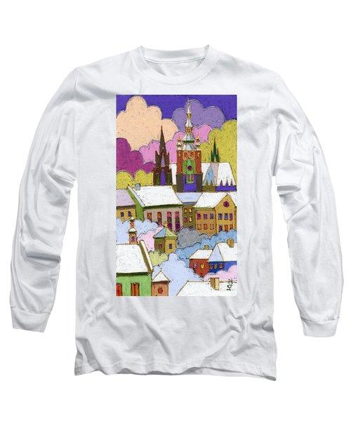 Prague Old Roofs Prague Castle Winter Long Sleeve T-Shirt