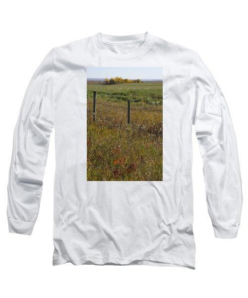 Prairie Autumn Long Sleeve T-Shirt by Ellery Russell