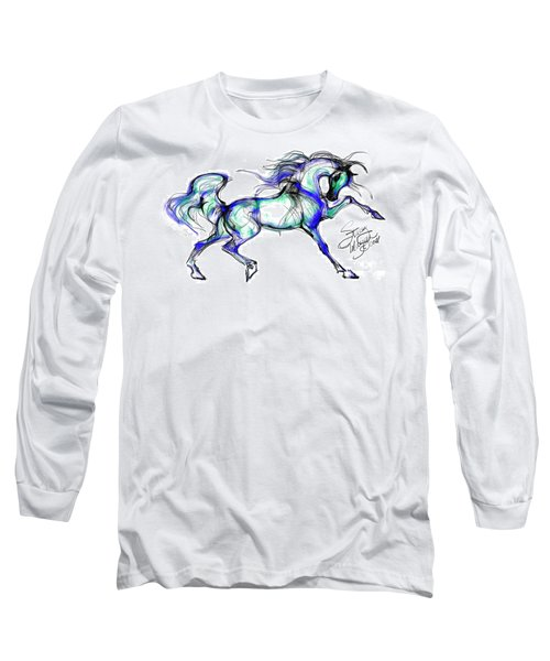 Prancing Arabian Horse Long Sleeve T-Shirt