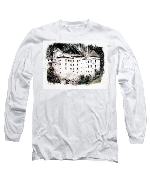 Long Sleeve T-Shirt featuring the photograph Predjama Castle by Joseph Hendrix