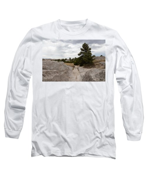 Long Sleeve T-Shirt featuring the photograph Preserved Wagon Ruts Of The Oregon Trail On The North Platte River by Carol M Highsmith