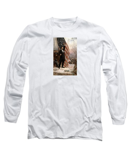 President Abraham Lincoln Giving A Speech Long Sleeve T-Shirt