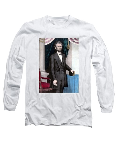 President Abraham Lincoln In Color Long Sleeve T-Shirt