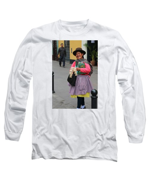 Pretty Lady In Lima Peru Long Sleeve T-Shirt