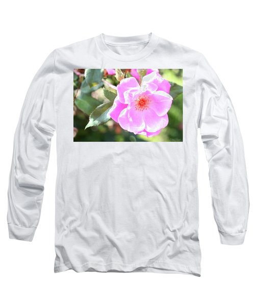 Pretty Pink Rose Long Sleeve T-Shirt