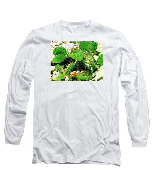 Long Sleeve T-Shirt featuring the photograph Prickly Pear Cactus Fruit by Merton Allen