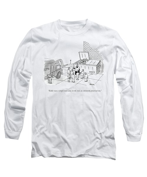 Priest Speaks To Gathered Mourners At A Funeral Long Sleeve T-Shirt