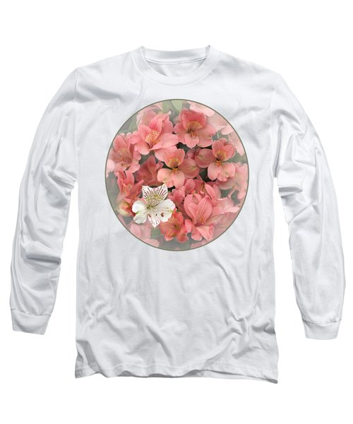 Prima Donna - Alstroemeria Long Sleeve T-Shirt by Gill Billington