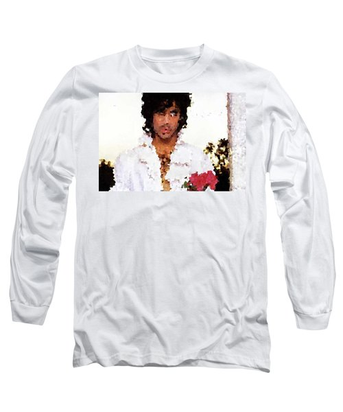 Prince Distorted Long Sleeve T-Shirt by Val Oconnor