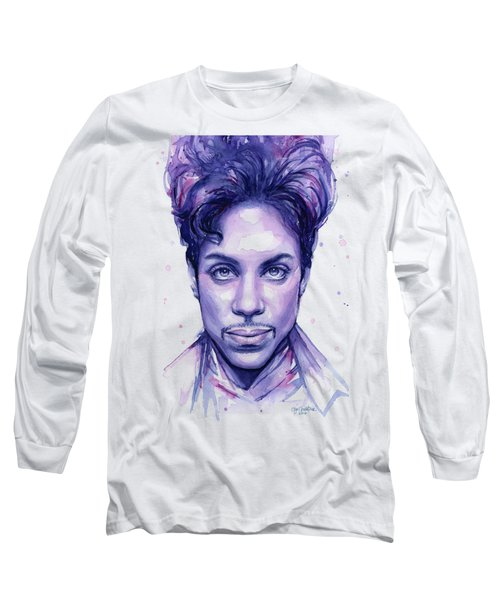 Prince Purple Watercolor Long Sleeve T-Shirt
