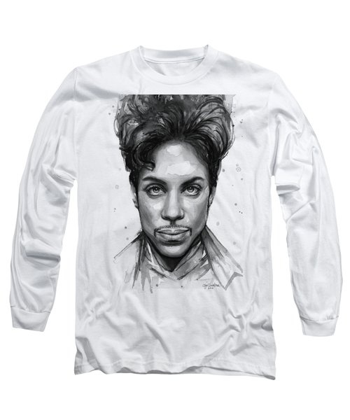 Prince Watercolor Portrait Long Sleeve T-Shirt