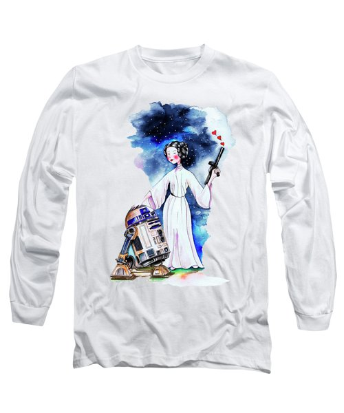 Princess Leia Illustration Long Sleeve T-Shirt