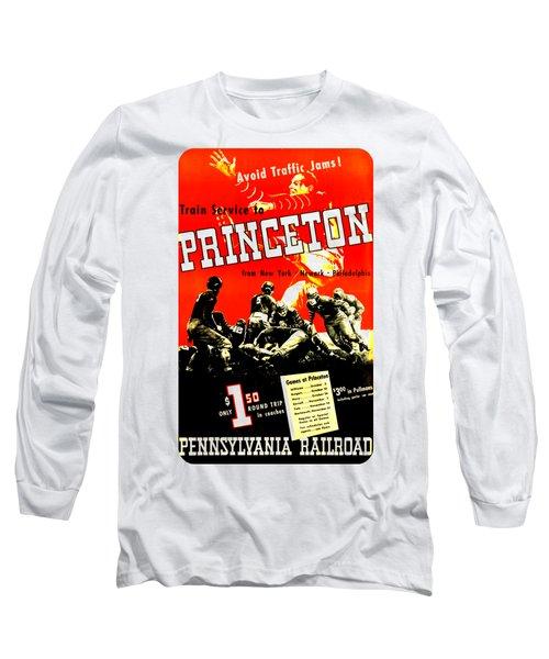 Princeton University Football 1936 Pennsylvania Railroad Long Sleeve T-Shirt by Peter Gumaer Ogden Collection