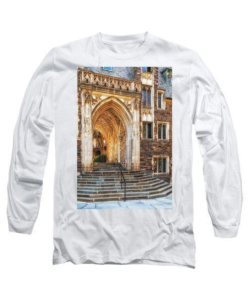 Long Sleeve T-Shirt featuring the photograph Princeton University Lockhart Hall Dorms by Susan Candelario