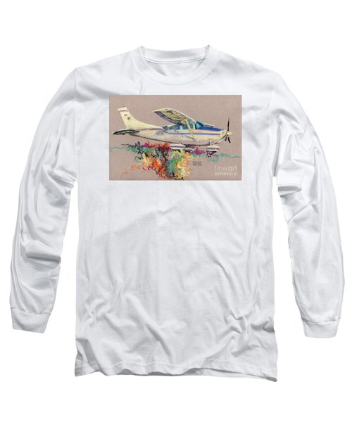 Private Plane Long Sleeve T-Shirt by Donald Maier