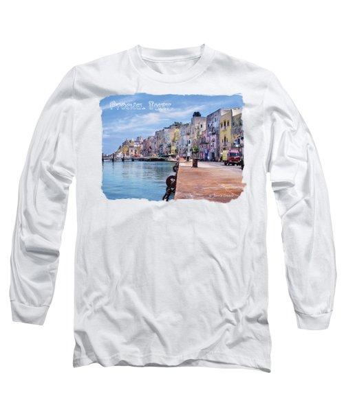 Procida Italy Long Sleeve T-Shirt by Jennie Breeze
