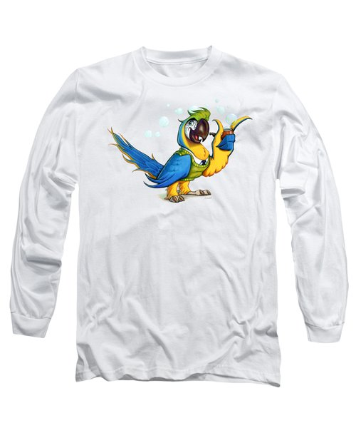 Professor Macaw Long Sleeve T-Shirt by Stieven Van der Poorten