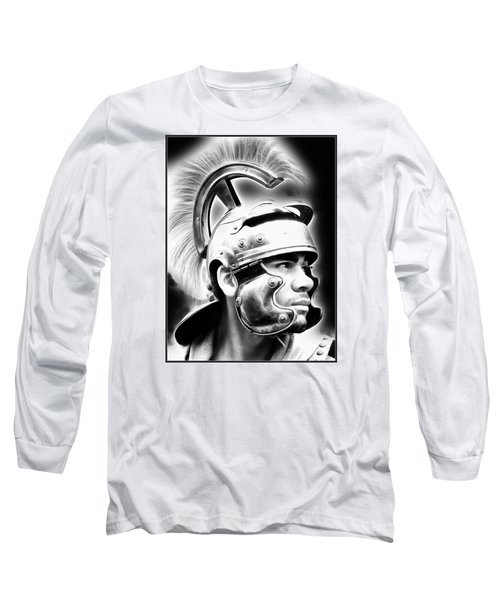 Profile Of A Trojan Hero Long Sleeve T-Shirt