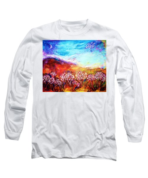 Long Sleeve T-Shirt featuring the painting Promise by Winsome Gunning