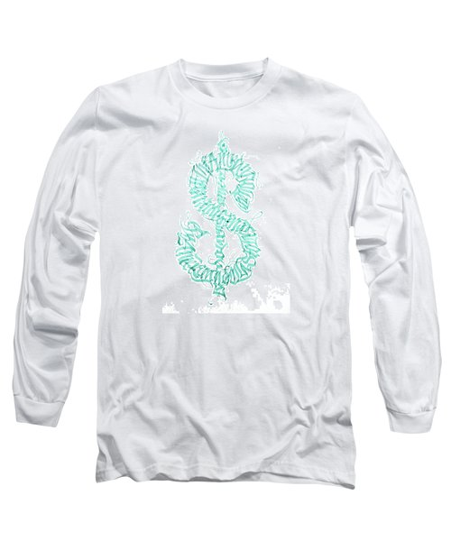 Prosperity. Calligraphy Abstract Long Sleeve T-Shirt