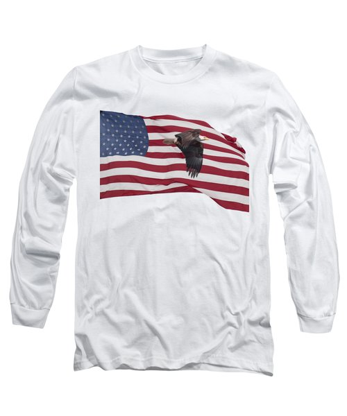 Long Sleeve T-Shirt featuring the photograph Proud To Be An American by Thomas Young