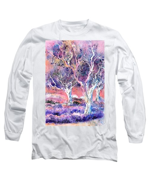 Provence Lavender Field And Olive Trees Long Sleeve T-Shirt