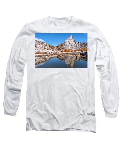 Prusik Peak Reflected In Gnome Tarn Long Sleeve T-Shirt