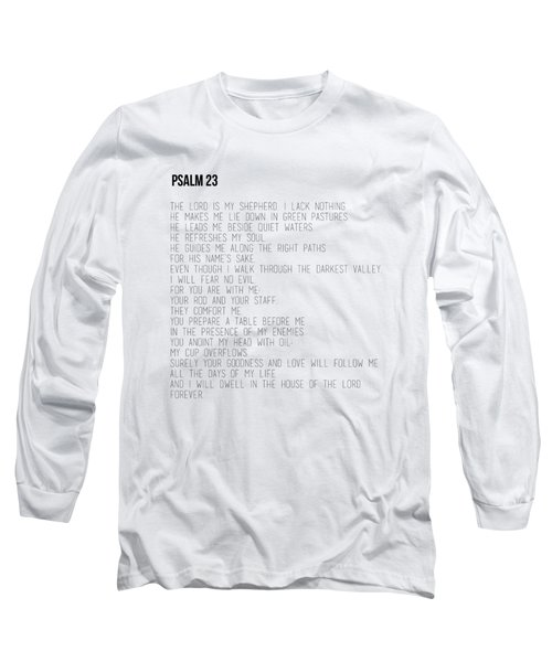 Psalm 23 #minimalist Long Sleeve T-Shirt