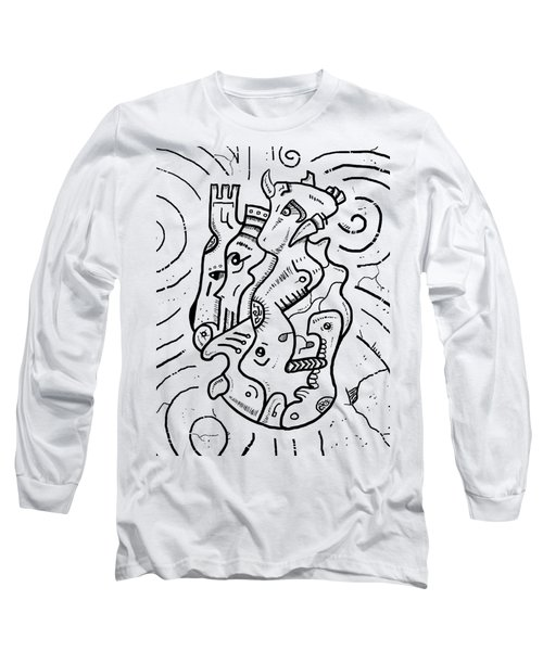 Psychedelic Animals Long Sleeve T-Shirt by Sotuland Art